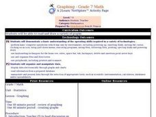 Graphing - Grade 7 Math Lesson Plan