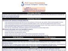 PLS Career Presentation Lesson Plan