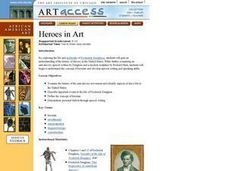 Heroes in Art Lesson Plan