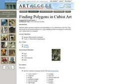 Finding Polygons in Cubist Art Lesson Plan