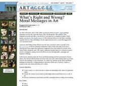 What's Right and Wrong? Moral Messages in Art Lesson Plan