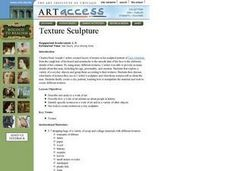 Texture Sculpture Lesson Plan