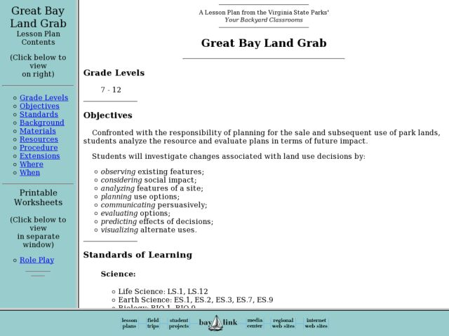 Great Bay Land Grab Lesson Plan