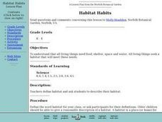 Habitat Habits Lesson Plan