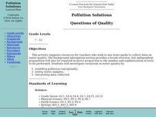Pollution Solutions: Questions of Quality Lesson Plan