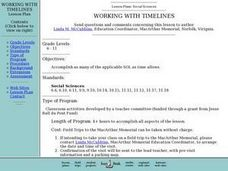 Working With Timelines Lesson Plan