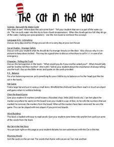 picture relating to Cat in the Hat Printable Activities titled The Cat inside the Hat Things to do Challenge for Pre-K - 2nd