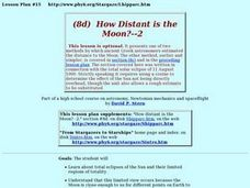 How Distant is the Moon? Part 2 Lesson Plan