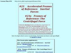 Accelerated Frames of Reference: Inertial Forces Lesson Plan