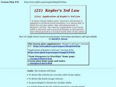Kepler's 3rd Law Lesson Plan