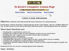 Using E-mail Programs Lesson Plan