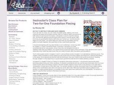TWO-FOR ONE FOUNDATION PIECING Lesson Plan