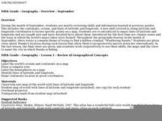Review of Geographical Concepts Lesson Plan