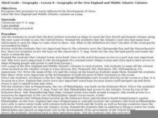 Geography of the New England and Middle Atlantic Colonies Lesson Plan