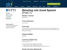 Blending into Good Speech Lesson Plan