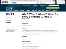 Who? What? Where? When? - Story Elements Lesson Plan