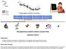 "Sing Your Way Through Phonics Lesson Plan ""Alphabet Letters"" Lesson Plan"