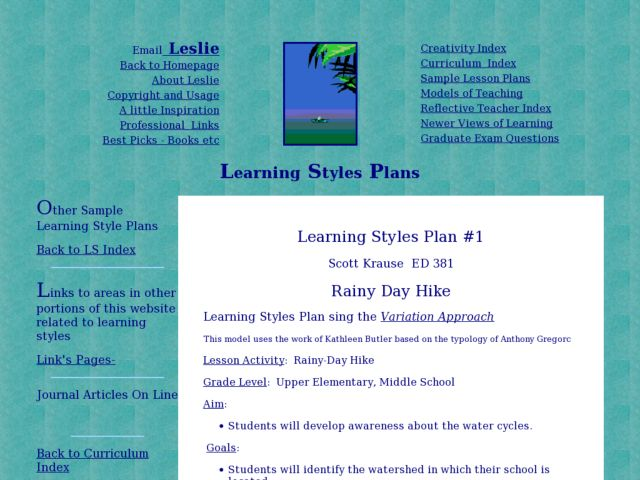 Rainy Day Hike Lesson Plan