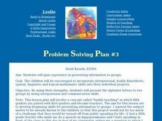 Problem Solving/Multiple Intelligences Lesson Plan