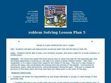 Problem Solving Lesson Plan 5 Lesson Plan