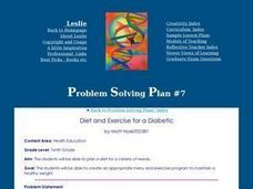 Diet and Exercise for a Diabetic Lesson Plan