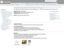 Looking at Decorative Arts Lesson 1: The Function of Furniture Lesson Plan