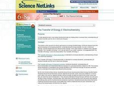 The Transfer of Energy 2: Electrochemistry Lesson Plan