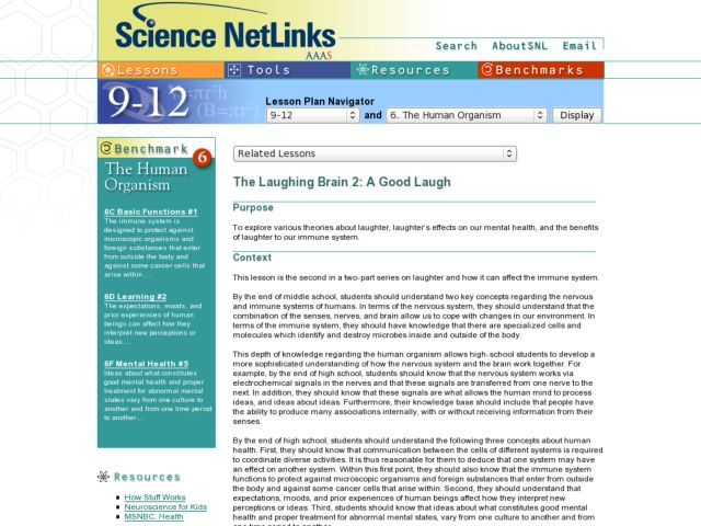 THE LAUGHING BRAIN 2: A GOOD LAUGH Lesson Plan