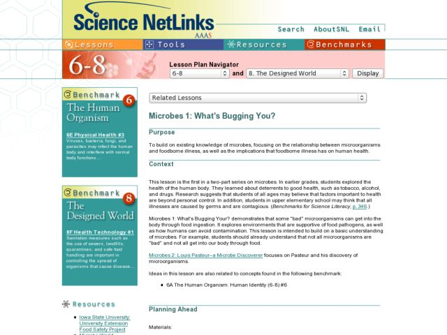 MICROBES 1: WHAT'S BUGGIN YOU? Lesson Plan