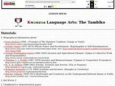 Kwanzaa Language Arts: The Tambiko Lesson Plan
