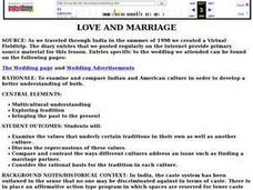 Love And Marriage Lesson Plan