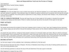 Rules and Responsibilities Youth and the Process of Change Lesson Plan