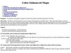 Color Enhanced Maps Lesson Plan