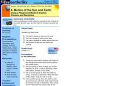 Motion of the Sun and Earth:  Using a Playground Model to Explore Rotation and Revolution Lesson Plan