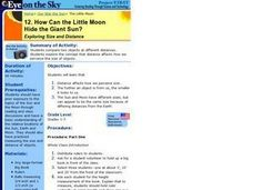 How Can the Little Moon Hide the Giant Sun?  Exploring Size and Distance Lesson Plan