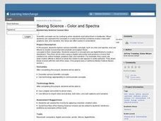 Seeing Science - Color and Spectra Lesson Plan