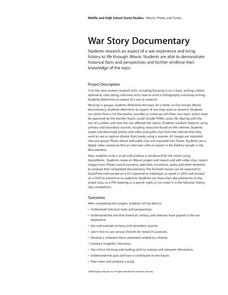 War Story Documentary Lesson Plan