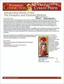 Interpreting Works of Art: The Compare and Contrast Method Lesson Plan