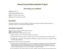 School Ground Naturalization Project Lesson Plan