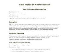 Evergreen - Urban Impacts on Water Percolation Lesson Plan