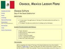 Oaxaca Culture, Day of the Dead Celebration Lesson Plan
