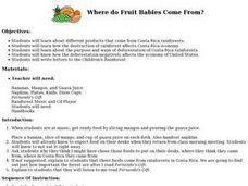 Where do Fruit Babies Come From? Lesson Plan
