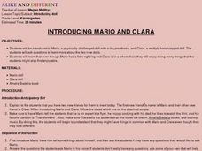 INTRODUCING MARIO AND CLARA Lesson Plan