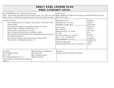 ADULT ESOL LESSON PLAN--Transportation and Travel Lesson Plan