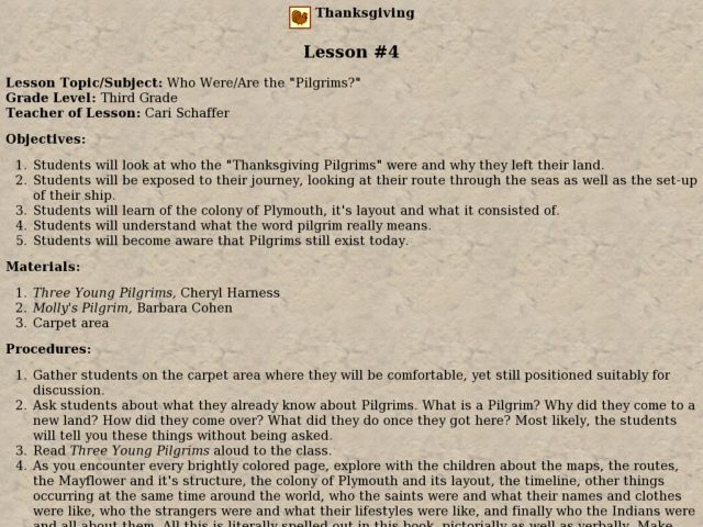 Who Were the Pilgrims? Lesson Plan
