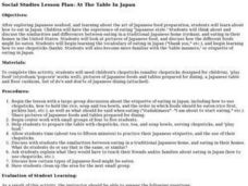 At The Table In Japan Lesson Plan