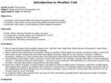 Introduce a Weather Unit Lesson Plan