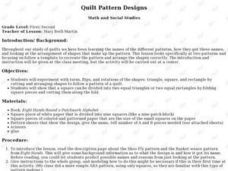 Quilt Pattern Designs Lesson Plan