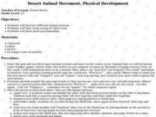 Desert Animal Movement, Physical Development Lesson Plan