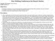 Peer Writing Conferences for Desert Stories Lesson Plan